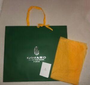Authentic Goyard Large Shopping Gift Bag & Tissue 23x20x6 & Receipt Card Holder