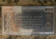 1946 WWII SAVINGS BOND VOLUNTEER APPRECIATION PLAQUE (2L)