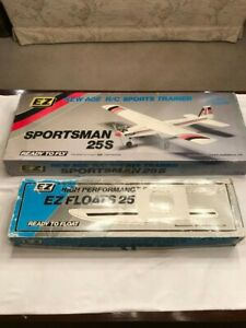 VINTAGE EZ MODELS SPORTSMAN 25S ARF HIGH PERFORMANCE RC AIRPLANE WITH FLOATS!!!