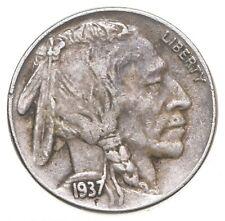 FULL HORN - High Grade - TOUGH - 1937 Buffalo Nickel - Sharp Coin! *113