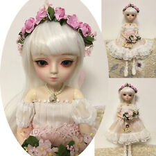 1/4 Mini BJD Girl Doll FREE FACE MAKE UP Clothes Dress + Removable Eyes Gift Toy