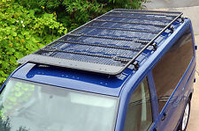 VW T5 Transporter Black Powder Coated Steel Heavy Duty Roof Rack Boxed