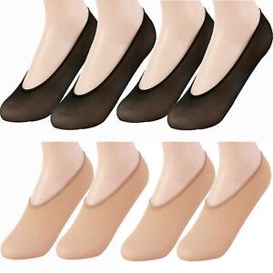 Ladies Invisible Socks Footsies Girls shoe liners Black & Nude Thin Foot Socks