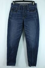 American Eagle Vintage Hi-Rise Skinny Size 2 Button Fly Mom Jeans Whiskered Wash