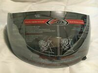 ZOX FULLFACE HELMET SHIELD VISOR with SIDEPLATES - SILVER MIRROR 86-93006 *