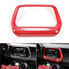 """9""""Red GPS Navigation Panel Frame Dash Board Outlet Trim For Chevrolet Camaro 17"""