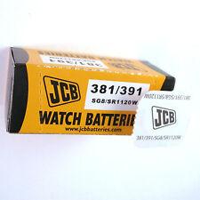 2 x JCB 391 381 Silver Oxide SR1120SW 1.55V Watch Battery SG8