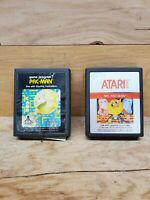 Vintage Atari 2600 Pac Man & Ms. Pac Man Video Game Cartridges Only Untested