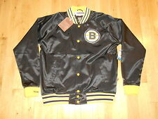 NEW MITCHELL & NESS BOSTON BRUINS VINTAGE HOCKEY COLLECTION SATIN JACKET XXL 2XL