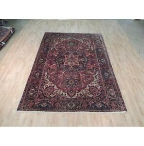 6x9 Authentic Hand Knotted Semi-Antique Rug B-71958
