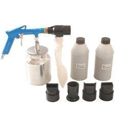 Druckluft Sandstrahlpistole Sandstrahlgerät mit 2 Behälter Strahlgut 4 Düsen KFZ