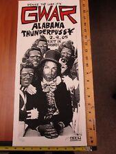 2005 Rock Concert Poster GWAR Alabama ThunderPussy Print Mafia SN LE#66