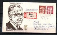 """Berlin, FDC + Einschreiben """"Heinemann"""" MiNr. 363 + 368 ESSt Berlin 07.01.1971"""