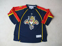Reebok Florida Panthers Hockey Jersey Youth Large Blue Red NHL Hockey Kids A8*