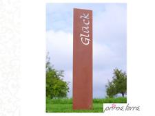 """Edelrost Gartenstele/Gartenstecker """"Glück"""", H=120 cm"""