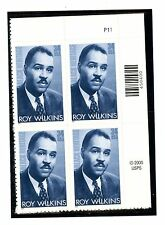 US  3501  Roy Wilkins 34c -Plate Block of 4 - MNH - 2001 - P11 UR