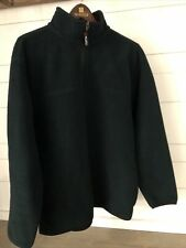 Eddie Bauer Vintage Polartec Men's Small Fleece 1/4 Zip Green