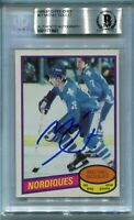 NORDIQUES MICHEL GOULET signed autographed 1980-81 OPC ROOKIE CARD RC BECKETT