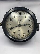 Chelsea Nautical Military Ships Clock Wilfred White & Son New York Working