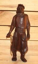 Vintage hand carving wood man figurine