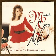 Mariah Carey Hand Signed All I Want For Christmas Is You CD Autographed PROOF