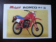 MOTO CYCLOMOTEUR RONCO RCX MALAGUTI CATALOGUE BROCHURE1980  PROSPECTUS