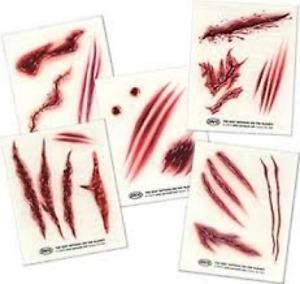 Savvi 5 Sheets Nitefall Cut/Scar/Wound Tattoo's Pain Free 8x10cm Halloween Dress