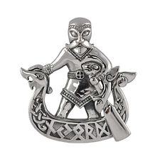 Sterling Silver Njord Pendant - Dryad Design Norse/Viking Rune Amulet/Talisman