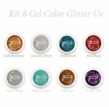 Kit gel colorati glitter uv coprenti ricostruzione unghie nails farbgel nail art