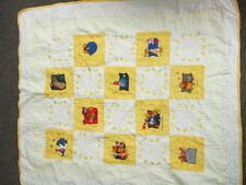 """Disney Winnie the Pooh Yellow Infant Baby quilt 38 1/2"""" x 44"""""""