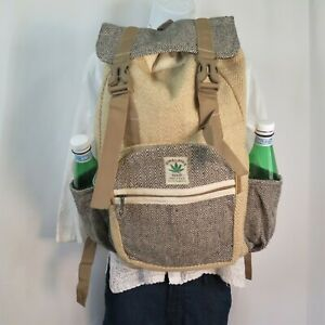 Hemp Backpack  Natural  THC Free  Eco Friendly  Free of Toxic Chemicals  ॐ