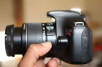 MINT Canon Rebel T3 / 1100D 12.2MP SLR With 18-55mm IS Lens (2 LENSES)