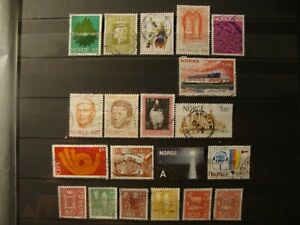 NORWAY :SIXTY EIGHT (68) FINE USED STAMPS.