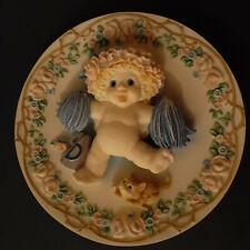 "Dreamsicles Sculpted Plate - ""A Heavenly Hoorah"" By Kristin"