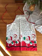 New listing Vintage Santa apron ~ jolly Christmas