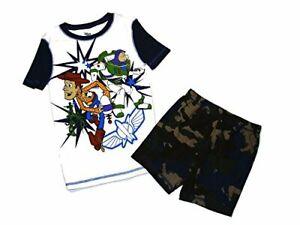 Disney Toy Story Boy's Buzz, Woody and Army Men Cotton Pajama Shorts Set, Size 7