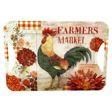Melamine Serving Tray with Open Handle, Farmers Market