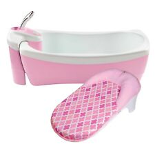 Summer Infant Lil Luxuries Whirlpool Bubbling Spa and Shower Baby Bath Tub Pink