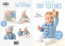 Panda Pattern Book #304 Tiny Textures 3 Designs to Knit in Baby Soft 4 Ply