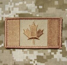 CANADA FLAG CANADIAN MILITARY MILSPEC COMBAT DESERT VELCRO® BRAND FASTENER PATCH