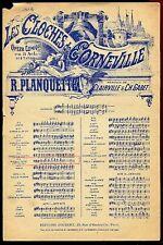 PARTITION ANCIENNE  LES CLOCHES DE CARNEVILLE CH.GABET