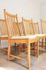 Quality Vintage Ercol Windsor Penn Dining chairs Solid Ash Set of  6