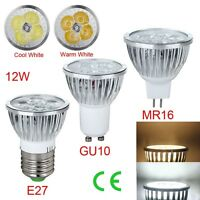 Cool 1/5/10PCS Dimable E27 GU10 MR16 12W LED Spot Light Lamps Bulb Cool/White