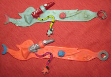 Vintage Space Themed Rubber BookMark Toys Rocket w Astronaut Lot of 2-Retro Cool