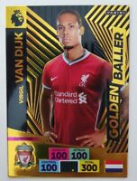 2020/21 PANINI Adrenalyn EPL Soccer Card - Golden Baller Virgil Van Dijk
