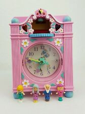 Vintage Polly Pocket Fun Horloge temps Playset rose 100% complet Excellent Cond...