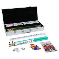 American Mahjong Set 166 Tiles Pushers/Racks Mah Jongg Set Aluminum Case, Silver