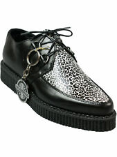 Nevermind Creep / Creeper Schuh Rockabilly Schwarz Mini Leopard Weiß  5000