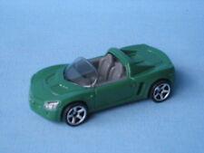 Matchbox Opel Speedster Green Body Toy Model German Sports Car 70mm UB Vauxhall