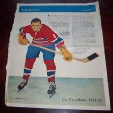 Ralph Backstrom La Patrie Du Dimanche photo Montreal Canadians 1961-62
